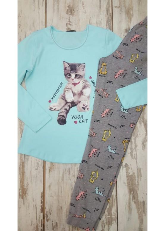 Дамска памучна пижама Иватекс 7578