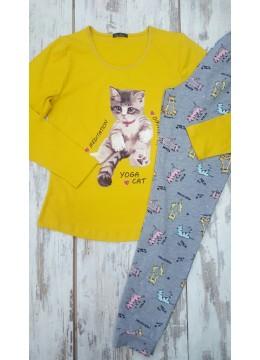 Дамска памучна пижама Иватекс 7579