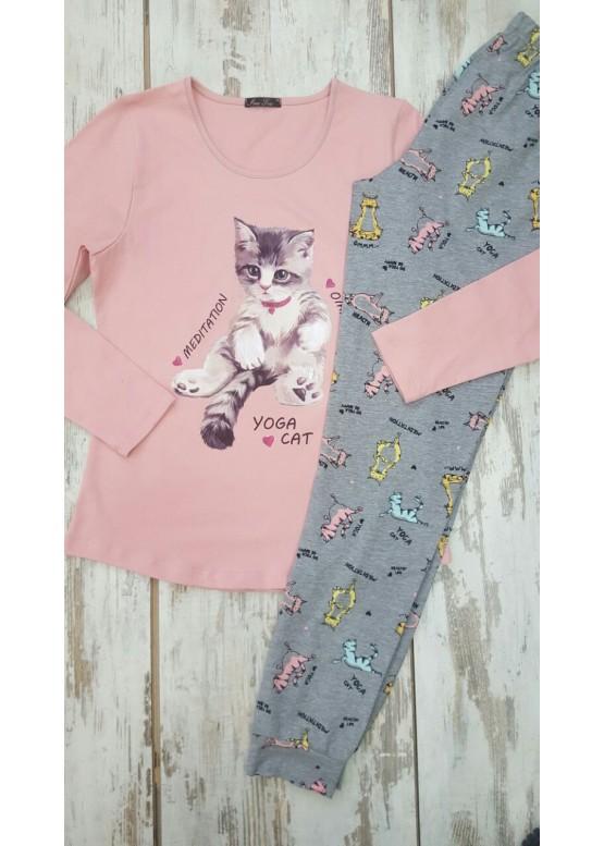 Дамска памучна пижама Иватекс 7580