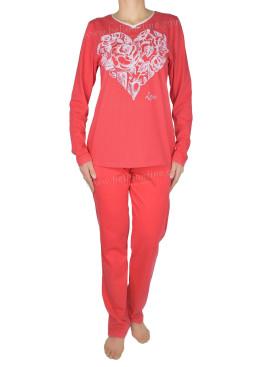 Дамска памучна пижама IvaTex  6903