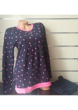 Дамска памучна пижама IvaTex 8316