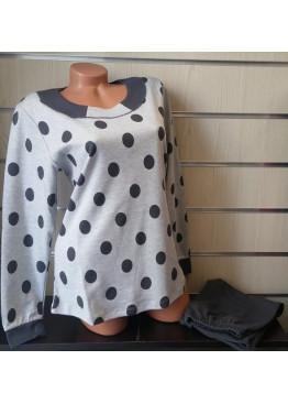 Дамска памучна пижама IvaTex 8329