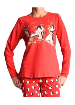 Дамска памучна пижама IvaTex  9885
