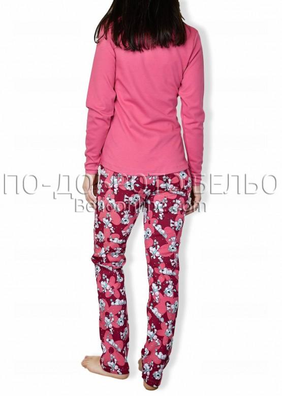 Дамска памучна пижама с кученца IvaTex 6653