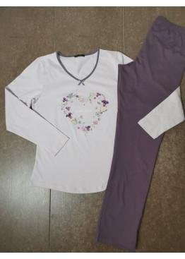 Дамска пижама с дълго долнище и дълъг ръкав Иватекс 3554