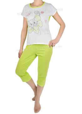 Дамска пижама къс ръкав 4326