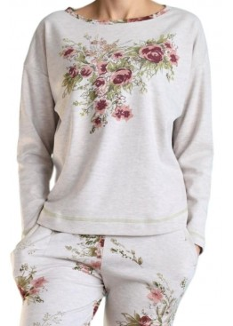 Дамска  пижама на цветя CHRISTIE 4734