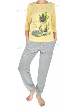 Дамска пижама  с 3/4 ръкав Affect 6334