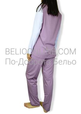 Дамска  пижама с дълъг ръкав Петков 6574