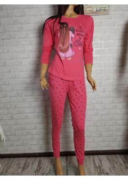 Дамска пижама с дълго долнище и дълъг ръкав Иватекс 9437