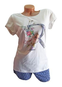 Дамска пижама с къс ръкав Affect цветя RD