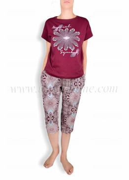 Дамска пижама с къс ръкав  CHRISTIE  6028