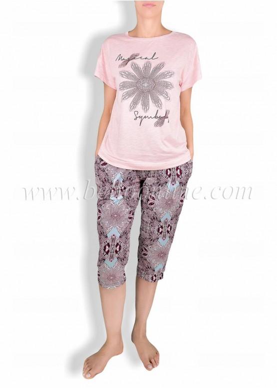 Дамска пижама с къс ръкав  CHRISTIE  6029