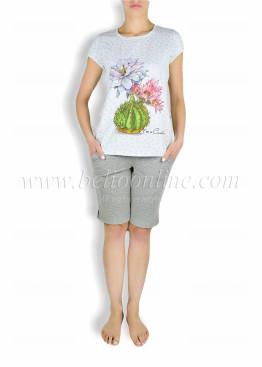 Дамска пижама с къс ръкав и къси панталони Affect 6024
