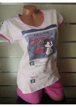 Дамска пижама с къс ръкав и къси панталонки Affect 7634