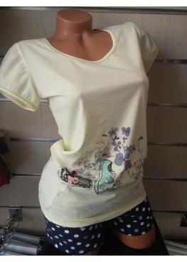 Дамска пижама с къс ръкав и къси панталонки Affect кецове
