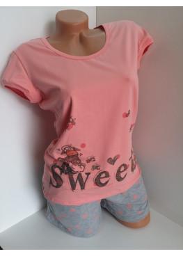 Дамска пижама с къс ръкав и къси панталонки Affect Sweet