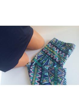 Дамска пижама с къс ръкав и клин 7492