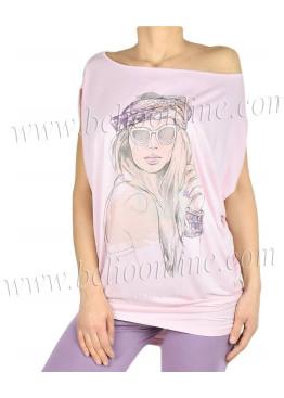 Дамска пижама  с къс ръкав и клин Affect 7423