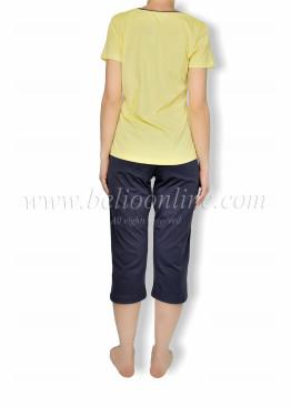 Дамска  пижама с къс ръкав Иватекс  6063