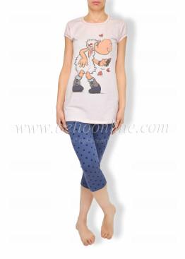 Дамска пижама с клин  Affect 6156