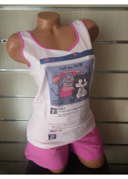 Дамска пижама  с потник и къси панталонки Affect 7358