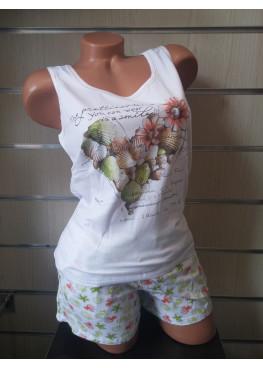 Дамска пижама  с потник и къси панталонки Affect 7389