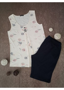 Дамска пижама с потник с широки презрамки Иватекс 3355