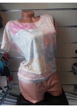 Дамска пижама със сатенена долница Affect 82361