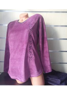 Дамска плюшена дебела пижама IvaTex 5944