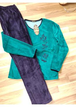 Дамска плюшена пижама Иватекс 7410