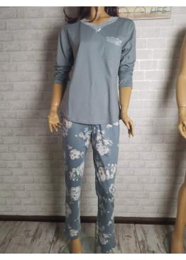 Дамска пролетна пижама Иватекс 3474 в големи размери