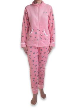 Дамска пухкава плюшена пижама 4921