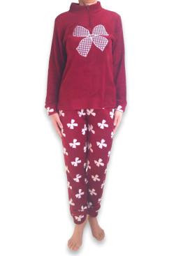 Дамска пухкава плюшена пижама 4922