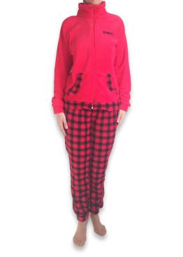 Дамска пухкава плюшена пижама 4923