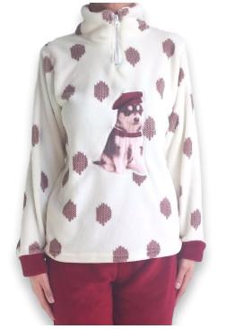 Дамска пухкава плюшена пижама 4924