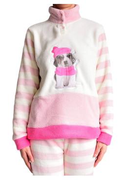 Дамска пухкава плюшена пижама 4929