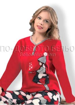 Дамска пухкава плюшена пижама Dika 6902
