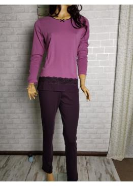 Дамска зимна памучна пижама Иватекс 3265