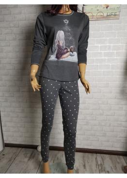 Дамска зимна памучна пижама Иватекс 9287