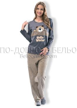 Дамска зимна пижама Dika 6903