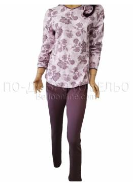 Дамска зимна пижама Иватекс 3260 от плътен памук интерлог