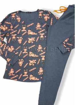 Дамска зимна пижама Иватекс 7498