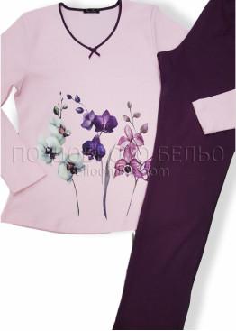 Дамска зимна пижама Иватекс с цветя 7560