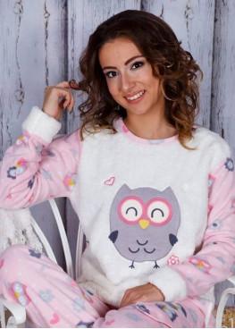 Дамска зимна пухена пижама Бухал 7556 Welsoft