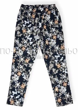 Дамски дълъг панталон Иватекс 8019 с флорални мотиви