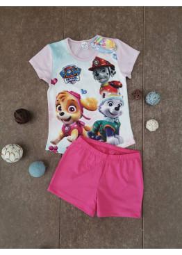 Детска лятна пижама с къс ръкав и късо долнище Иватекс 203 с Пес Патрул