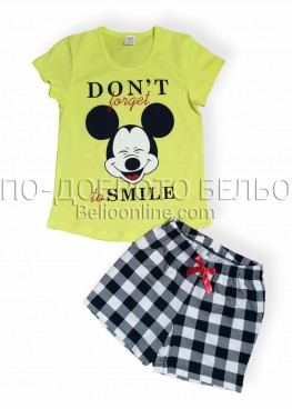 Детска пижама Иватекс 8008 с къс ръкав и къси панталонки