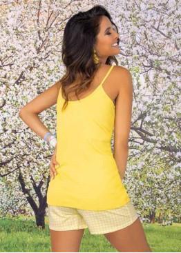 Луксозна дамска лятна пижама в жълто Sielei PP10