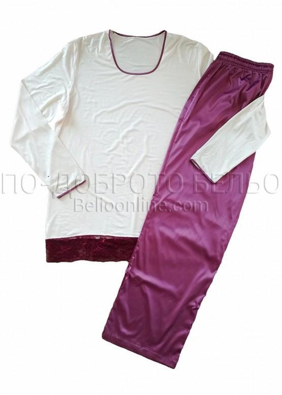 Луксозна пижама от модал и сатен Affect 8315